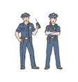 police officer woman and man in professional vector image vector image