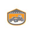 Road Grader Shield Retro vector image