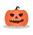 scary smile pumpkin jack o lantern halloween vector image vector image