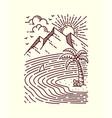 seascape line vector image