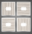 Set Hand drawn striped seamless pattern vector image vector image