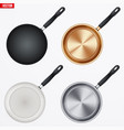 set of fry pan vector image