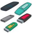 set of usb flash drive vector image