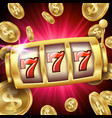 slot machine banner casino luck word big vector image vector image