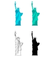 Statue of Liberty in New York City vector image