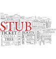 stub word cloud concept vector image vector image