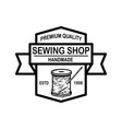 Tailor shop emblem template design element for