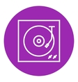 Turntable line icon vector image vector image