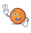 two finger cookies character cartoon style vector image