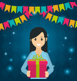 young woman in party vector image