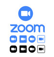 zoom logo editorial on white vector image vector image