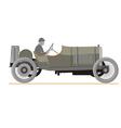 Cartoon old retro car vector image