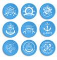 set of vintage fishing labels badges vector image
