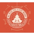 Christmas greeting card background vintage vector image