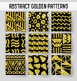 abstract gold glitter hand drawn seamless patterns vector image