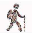 people shape man traveler vector image