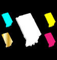 3d map of indiana vector image vector image