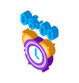 alarm clock time isometric icon vector image vector image