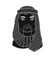 arabhuman race single icon in black style vector image vector image