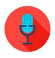 audio microphone circle icon vector image