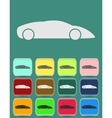 automobile icon with color variations vector image
