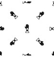 baseball glove award pattern seamless black vector image vector image