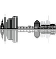 basel reflect city skyline vector image vector image