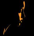 beauty woman face silhouette in contrast