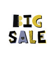 big sale lettering vector image vector image