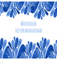 blue floral border in russian or holland style vector image