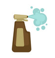 cleaner in bottle with spray for dirt removal vector image vector image