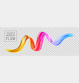 colorful flow poster transparent brushstroke wave vector image vector image