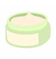 Cosmetic face cream container icon cartoon style vector image