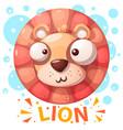 cute lion character - cartoon vector image