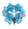 decision making in paper art vector image
