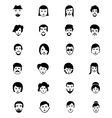 Faces Icons 4 vector image