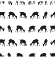 feeding fallow deer silhouette of animal seamless vector image vector image