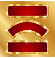 Flash banner gold vector image