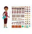flat female teacher or professor character vector image vector image