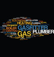 gasfitter word cloud concept vector image vector image