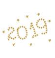 gold flying stars confetti magic cosmic christmas vector image vector image