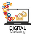 graphic digital marketing vector image vector image