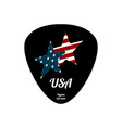 guitar pick icon with star in flat style vector image