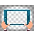 Hands with smart phone cartoon vector image