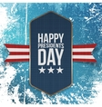 happy presidents day big realistic blue banner vector image
