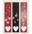 Heart Banners vector image vector image