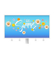 hello summer floral abstract pattern with bud vector image