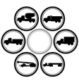 Icons of construction equipment vector image