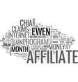 is ewen chia s affiliate of the month a scam text vector image vector image