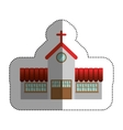 Isolated house church design vector image vector image